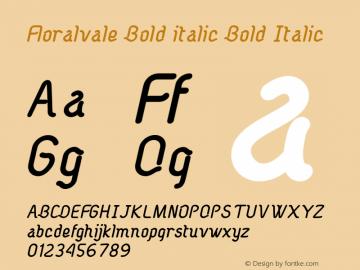 Floralvale Bold italic