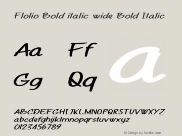 Flolio Bold italic wide