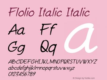 Flolio Italic
