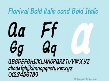 Florival Bold italic cond