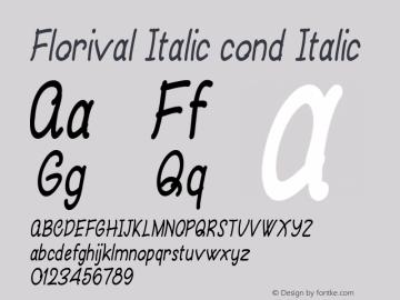 Florival Italic cond