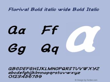 Florival Bold italic wide