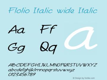 Flolio Italic wide