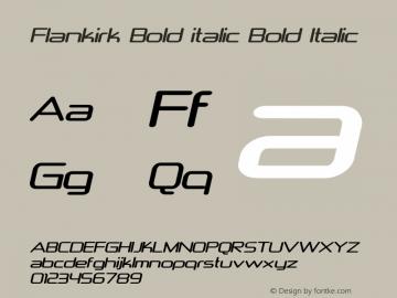 Flankirk Bold italic