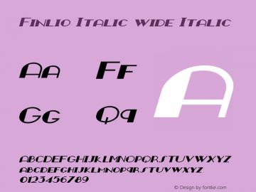 Finlio Italic wide