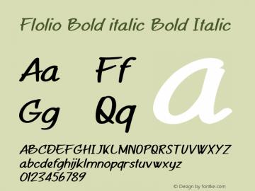 Flolio Bold italic