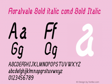 Floralvale Bold italic cond