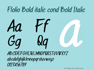 Flolio Bold italic cond