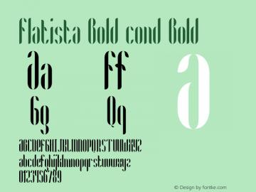 Flatista Bold cond