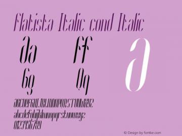 Flatista Italic cond