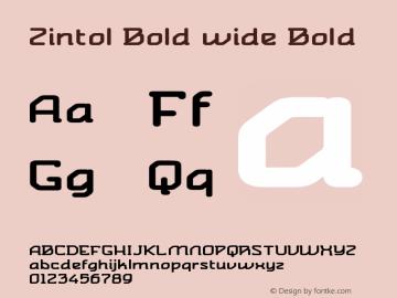 Zintol Bold wide