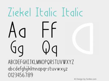 Ziekel Italic
