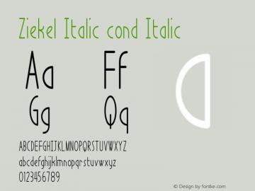 Ziekel Italic cond