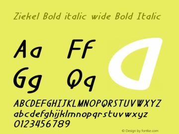 Ziekel Bold italic wide