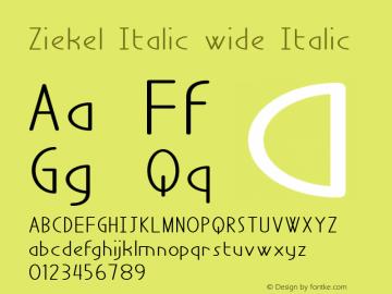 Ziekel Italic wide