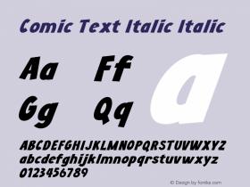 Comic Text Italic
