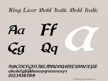 King Lear Bold Italic