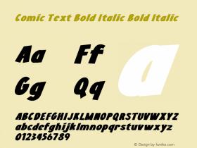 Comic Text Bold Italic