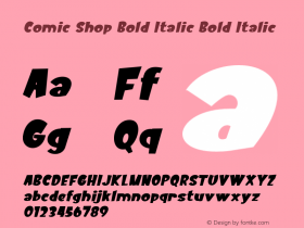 Comic Shop Bold Italic