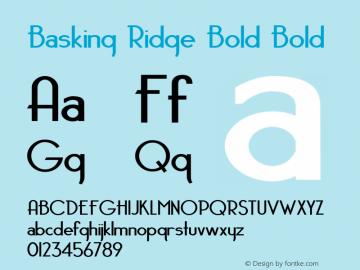 Basking Ridge Bold