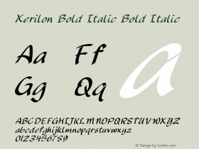 Xerilon Bold Italic