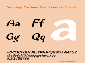 Saturday Cartoons Bold Italic