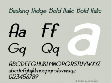 Basking Ridge Bold Italic