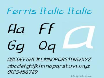 Ferris Italic