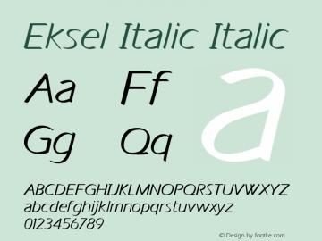 Eksel Italic