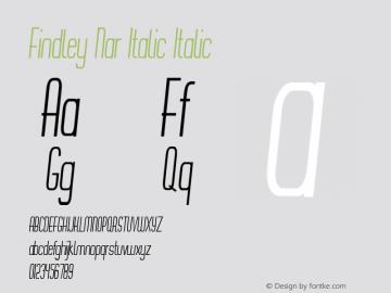 Findley Nar Italic