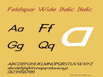 Feldspar Wide Italic