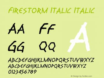 Firestorm Italic