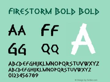 Firestorm Bold