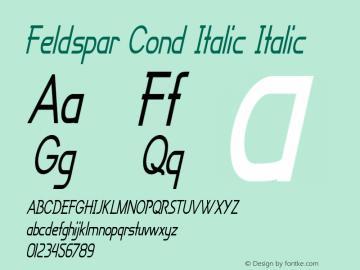 Feldspar Cond Italic
