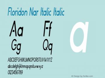 Floridon Nar Italic
