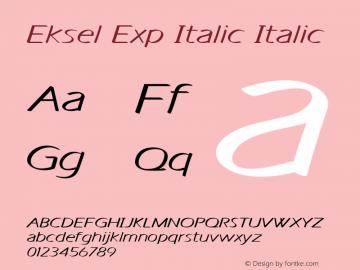 Eksel Exp Italic