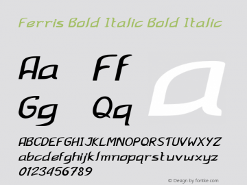 Ferris Bold Italic