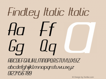 Findley Italic