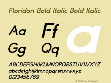 Floridon Bold Italic