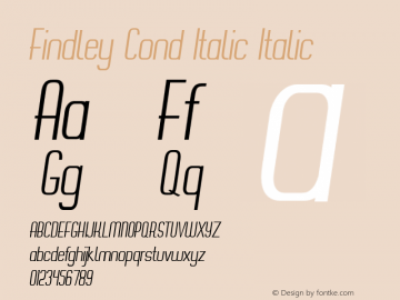 Findley Cond Italic