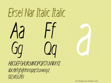 Eksel Nar Italic