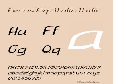 Ferris Exp Italic