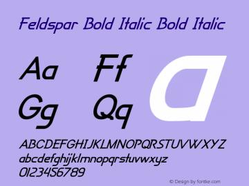 Feldspar Bold Italic