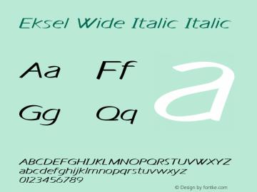 Eksel Wide Italic