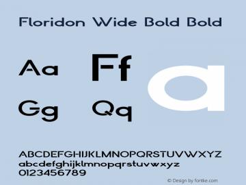 Floridon Wide Bold