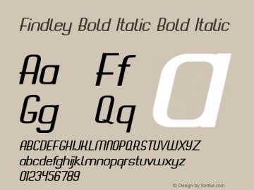 Findley Bold Italic
