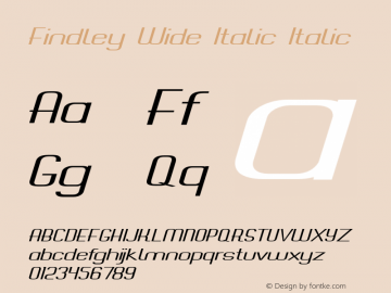 Findley Wide Italic