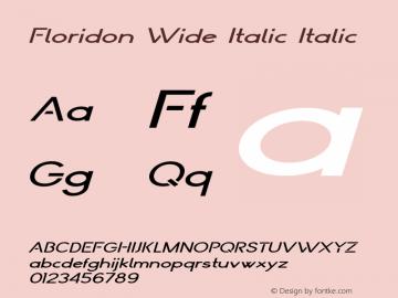 Floridon Wide Italic