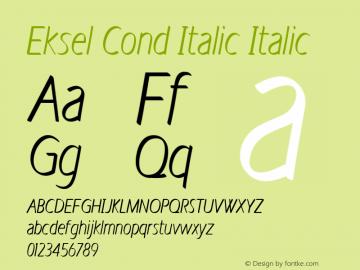 Eksel Cond Italic