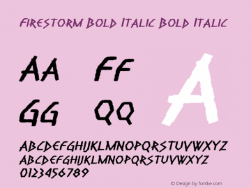 Firestorm Bold Italic